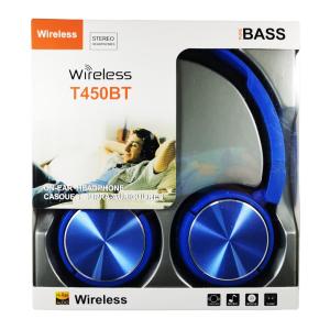 Casti wireless T450BT pure BASS Hi-Res AUDIO, albastru