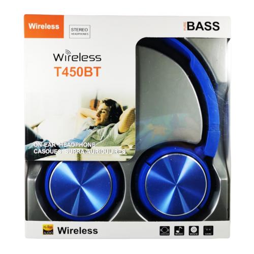 Casti-wireless-T450BT-pure-BASS-Hi-Res-AUDIO,-albastru