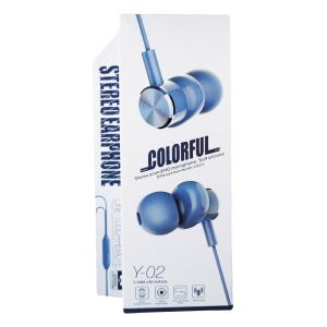 Casti premium izolatoare zgomot cu fir albastru