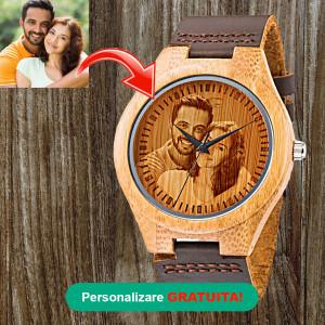 Ceas de lemn - Cameron