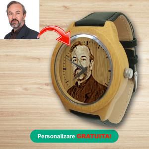 Ceas de lemn - Bagenda Black